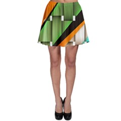 Abstract Wallpapers Skater Skirt by Simbadda