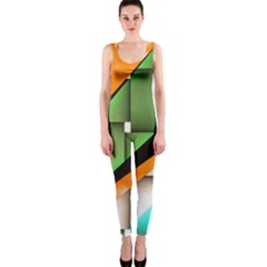 Abstract Wallpapers Onepiece Catsuit by Simbadda