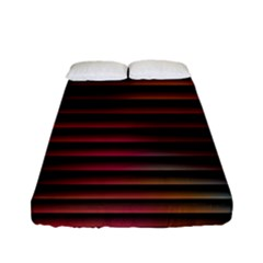 Colorful Venetian Blinds Effect Fitted Sheet (full/ Double Size) by Simbadda