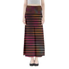 Colorful Venetian Blinds Effect Maxi Skirts