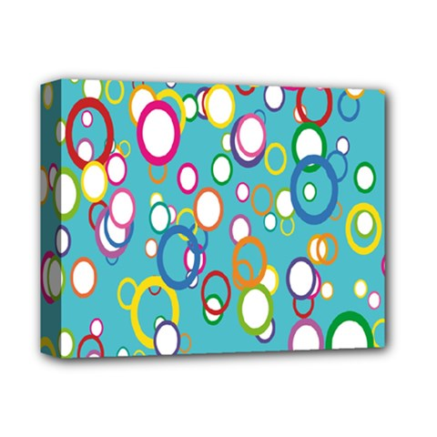 Circles Abstract Color Deluxe Canvas 14  X 11