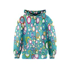 Circles Abstract Color Kids  Zipper Hoodie