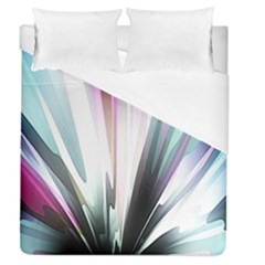 Flower Petals Abstract Background Wallpaper Duvet Cover (queen Size) by Simbadda