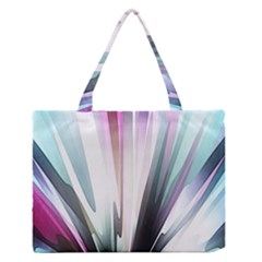 Flower Petals Abstract Background Wallpaper Medium Zipper Tote Bag