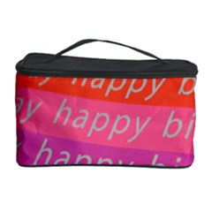 Colorful Happy Birthday Wallpaper Cosmetic Storage Case by Simbadda