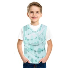 Abstract Background Teal Bubbles Abstract Background Of Waves Curves And Bubbles In Teal Green Kids  Sportswear