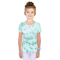 Abstract Background Teal Bubbles Abstract Background Of Waves Curves And Bubbles In Teal Green Kids  One Piece Tee by Simbadda