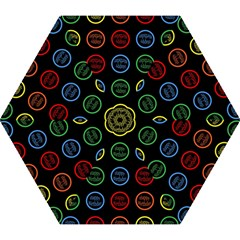 Happy Birthday Colorful Wallpaper Background Mini Folding Umbrellas by Simbadda