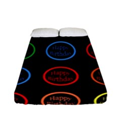 Happy Birthday Colorful Wallpaper Background Fitted Sheet (full/ Double Size)
