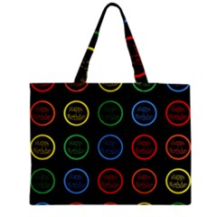 Happy Birthday Colorful Wallpaper Background Medium Tote Bag by Simbadda