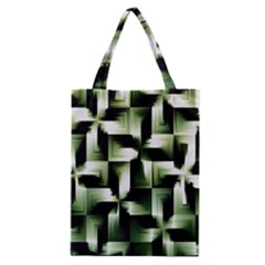 Green Black And White Abstract Background Of Squares Classic Tote Bag by Simbadda