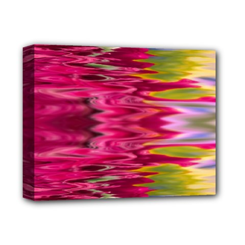 Abstract Pink Colorful Water Background Deluxe Canvas 14  X 11  by Simbadda