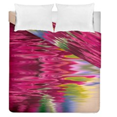 Abstract Pink Colorful Water Background Duvet Cover Double Side (queen Size)