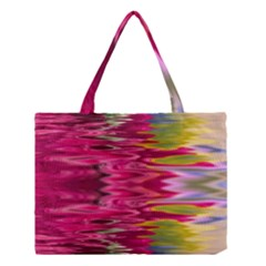 Abstract Pink Colorful Water Background Medium Tote Bag by Simbadda