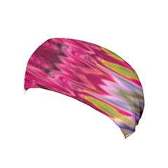 Abstract Pink Colorful Water Background Yoga Headband