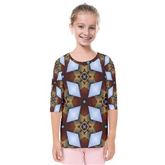 Abstract Seamless Background Pattern Kids  Quarter Sleeve Raglan Tee