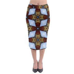 Abstract Seamless Background Pattern Midi Pencil Skirt by Simbadda