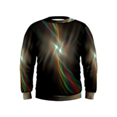 Colorful Waves With Lights Abstract Multicolor Waves With Bright Lights Background Kids  Sweatshirt
