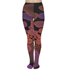 Heart Invasion Background Image With Many Hearts Women s Tights by Simbadda