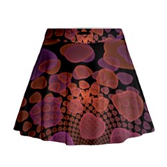 Heart Invasion Background Image With Many Hearts Mini Flare Skirt