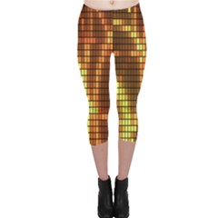 Circle Tiles A Digitally Created Abstract Background Capri Leggings