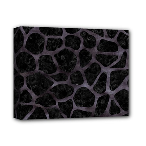 Skin1 Black Marble & Black Watercolor (r) Deluxe Canvas 14  X 11  (stretched) by trendistuff