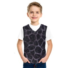 Skin1 Black Marble & Black Watercolor (r) Kids  Basketball Tank Top