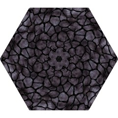 Skin1 Black Marble & Black Watercolor Mini Folding Umbrella by trendistuff