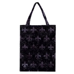 Royal1 Black Marble & Black Watercolor (r) Classic Tote Bag by trendistuff