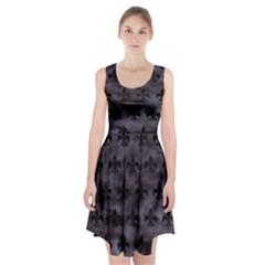 Royal1 Black Marble & Black Watercolor Racerback Midi Dress