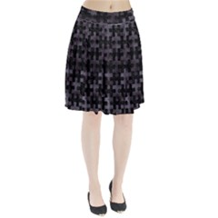 Puzzle1 Black Marble & Black Watercolor Pleated Skirt