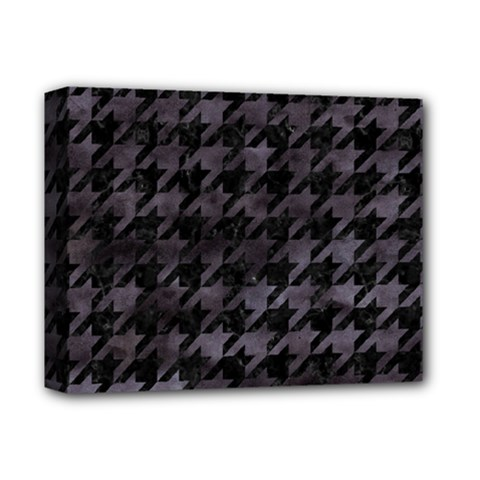 Houndstooth1 Black Marble & Black Watercolor Deluxe Canvas 14  X 11  (stretched) by trendistuff