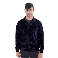 Damask1 Black Marble & Black Watercolor Wind Breaker (men) by trendistuff
