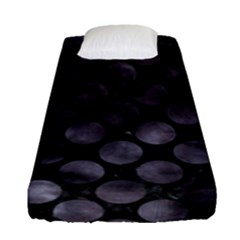 Circles2 Black Marble & Black Watercolor Fitted Sheet (single Size) by trendistuff