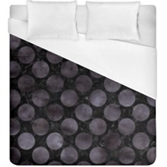Circles2 Black Marble & Black Watercolor Duvet Cover (king Size) by trendistuff