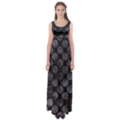 Circles2 Black Marble & Black Watercolor Empire Waist Maxi Dress by trendistuff