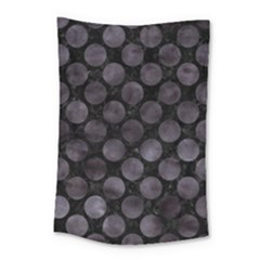 Circles2 Black Marble & Black Watercolor Small Tapestry by trendistuff