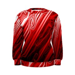 Red Abstract Swirling Pattern Background Wallpaper Women s Sweatshirt by Simbadda