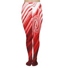 Red Abstract Swirling Pattern Background Wallpaper Women s Tights by Simbadda