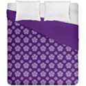 Deep Purple White Pentacle Pagan Wiccan Duvet Cover Double Side (California King Size) View1