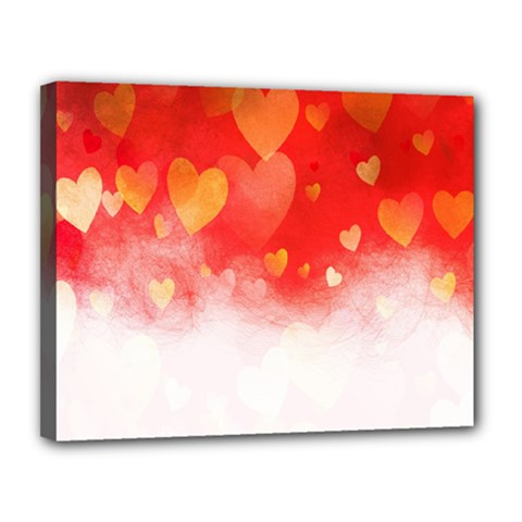Abstract Love Heart Design Canvas 14  X 11