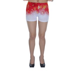 Abstract Love Heart Design Skinny Shorts