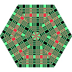 Bright Christmas Abstract Background Christmas Colors Of Red Green And Black Make Up This Abstract Mini Folding Umbrellas by Simbadda