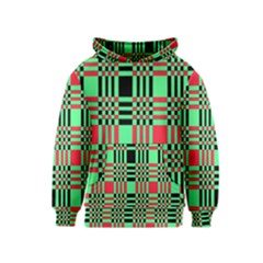 Bright Christmas Abstract Background Christmas Colors Of Red Green And Black Make Up This Abstract Kids  Pullover Hoodie