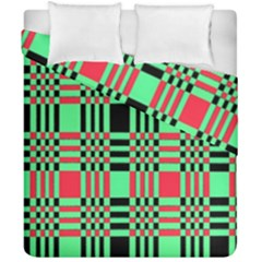 Bright Christmas Abstract Background Christmas Colors Of Red Green And Black Make Up This Abstract Duvet Cover Double Side (california King Size)