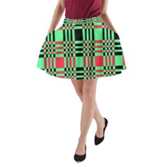 Bright Christmas Abstract Background Christmas Colors Of Red Green And Black Make Up This Abstract A Line Pocket Skirt