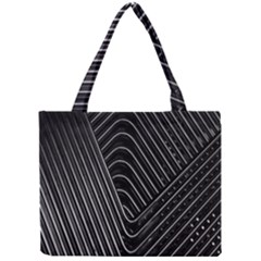 Chrome Abstract Pile Of Chrome Chairs Detail Mini Tote Bag