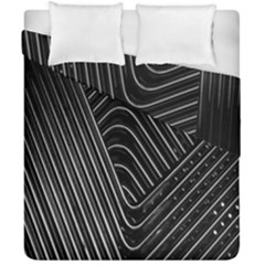 Chrome Abstract Pile Of Chrome Chairs Detail Duvet Cover Double Side (california King Size) by Simbadda