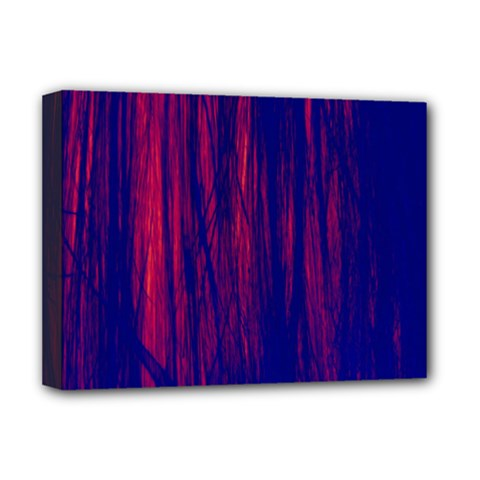 Abstract Color Red Blue Deluxe Canvas 16  X 12