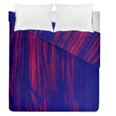 Abstract Color Red Blue Duvet Cover Double Side (queen Size)